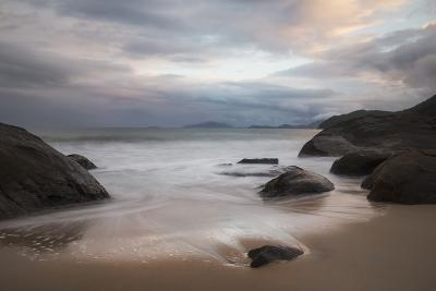 A Long Exposure of Praia Prumirim at Sunset in Ubatuba, Brazil-Alex Saberi-Photographic Print