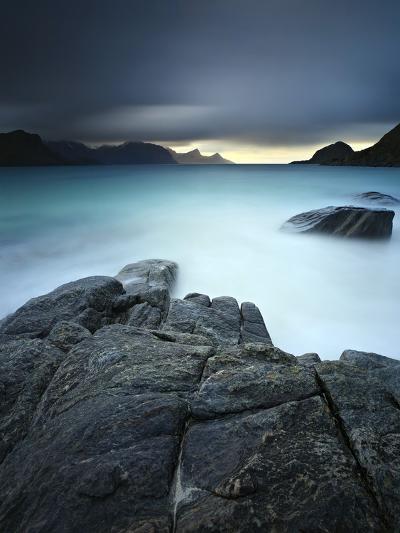 A Long Exposure Scene at Haukland Beach in Lofoten, Norway-Stocktrek Images-Photographic Print