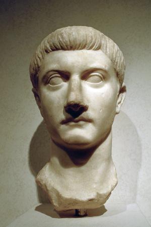 Head of the Roman Emperor Tiberius
