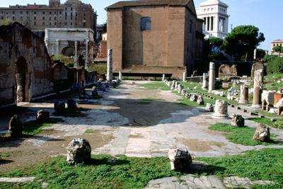 The Basilica Aemilia, Rome, Italy
