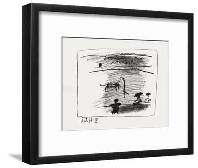 A los toros : les banderilles-Pablo Picasso-Framed Premium Edition