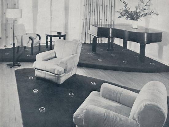 'A lounge, designed and carried out by Ian Henderson & Co., London', 1935-Unknown-Photographic Print
