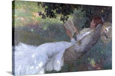 A Love Story, 1903-Emanuel Phillips Fox-Stretched Canvas Print