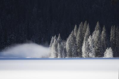 A Low-Lying Mist Hovers over a Snowy Landscape-Robbie George-Photographic Print