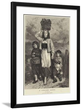 A Lowland Lassie-Thomas Faed-Framed Giclee Print