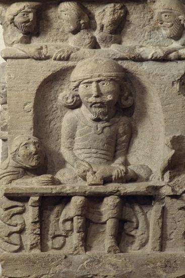 A Luthier, Sculptural Decoration of the Corner Pillar of a House in the 12th Century Cluny, France--Giclee Print