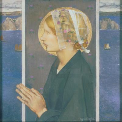 A Madonna of Brittany, 1913-Edward Reginald Frampton-Giclee Print