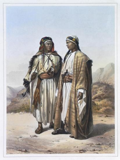 A Mahazi and a Soualeh Bedouin, 1848-Charles Bour-Giclee Print