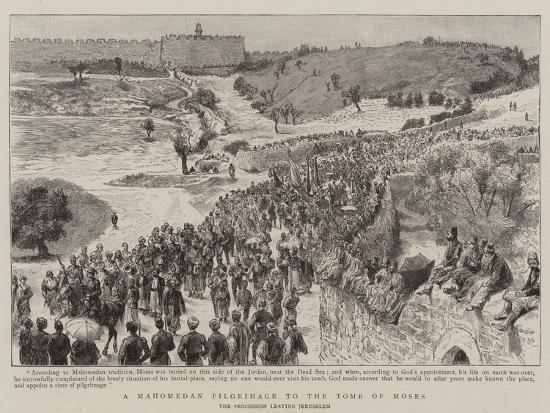 A Mahomedan Pilgrimage to the Tomb of Moses--Giclee Print