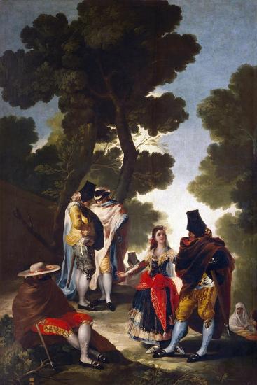 A Maja and Gallants, 1777-Francisco de Goya-Giclee Print