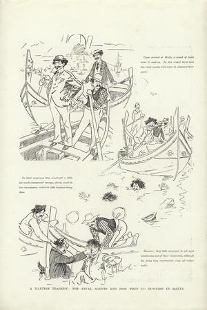 A Maltese Tragedy, the Rival Agents and How They Do Business in Malta-Phil May-Giclee Print