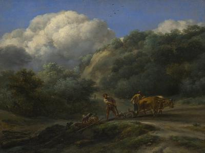A Man and a Youth Ploughing with Oxen, C. 1650-Nicolaes Berchem-Giclee Print