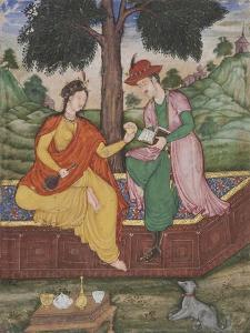 A Man and Woman Seated Beneath a Tree, C.1590