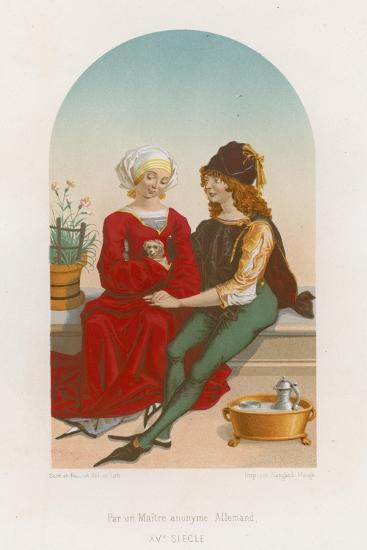 A Man and Woman Sitting Together--Giclee Print