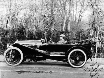 A Man at the Wheel of a Hispano-Suiza Alfonso XIII, 1914