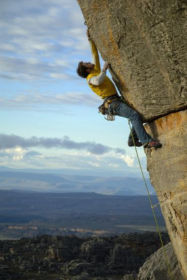 A Man Climbs in the Cederberg Wilderness Area, South Africa-Keith Ladzinski-Photographic Print