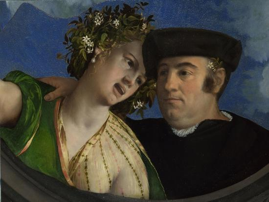 A Man Embracing a Woman, Ca 1524-Dosso Dossi-Giclee Print