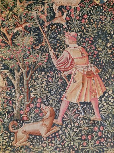 A Man Gathering Pears with a Hoe--Giclee Print