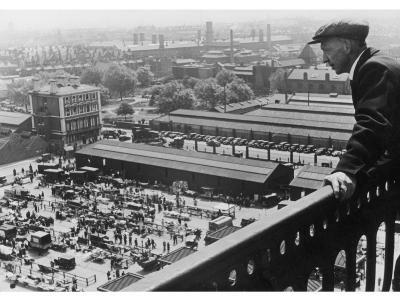 A Man Looks Down over the Old Caledonian Road Market, Caledonian Road, North London--Photographic Print