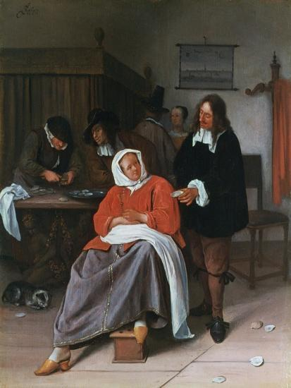 A Man Offering an Oyster to a Woman, C1660-1665-Jan Steen-Giclee Print
