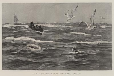 A Man Overboard in Southern Seas, Saved!-Joseph Nash-Giclee Print