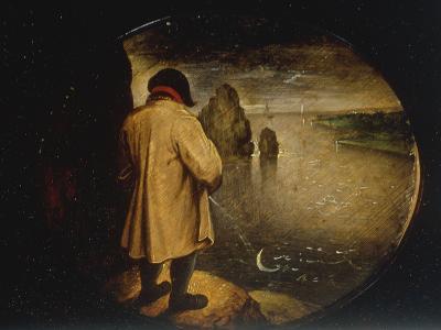 A Man Pissing on the Moon-Pieter Breugel the Elder-Giclee Print