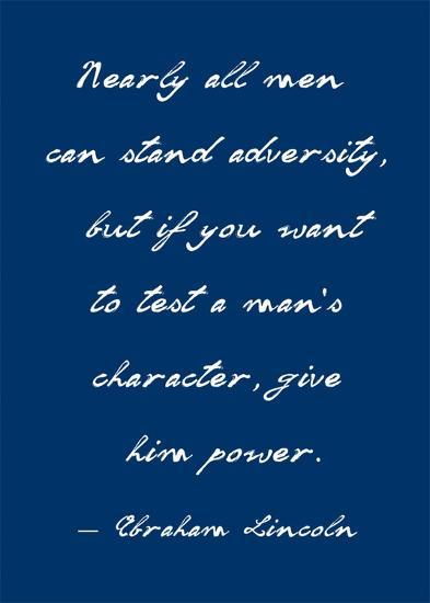 A Man's Character-Veruca Salt-Art Print
