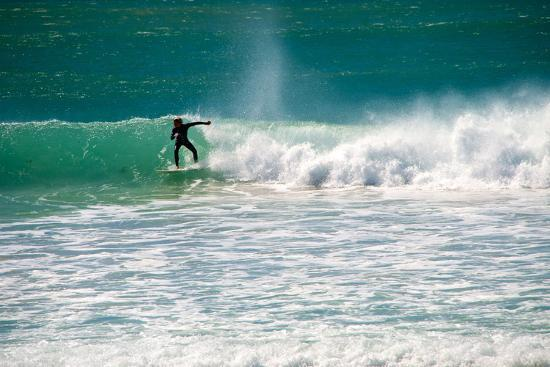 A Man Surfing Off the Coast of South Africa-Heather Perry-Photographic Print