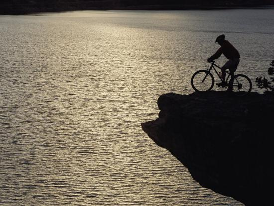 A Man Takes in the View from Above Mcphee Reservoir-Bill Hatcher-Photographic Print