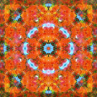 A Mandala Ornament from Flower Photographs, Conceptual Layer Work-Alaya Gadeh-Photographic Print