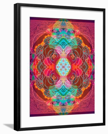 A Mandala Ornament from Flowers and Drawings-Alaya Gadeh-Framed Photographic Print