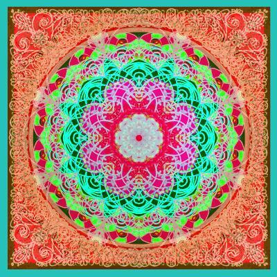 A Mandala Ornament from Flowers and Drawings-Alaya Gadeh-Photographic Print