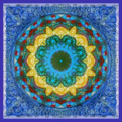 A Mandala Ornament from Flowers, Photograph, Many Layer Artwork-Alaya Gadeh-Photographic Print