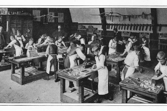 A manual training centre: woodwork, London, c1900 (1901)-Unknown-Photographic Print