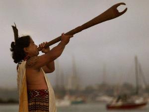 A Maori Warrior Calls Across Auckland