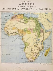 A Map of Africa to Illustrate the Travels of David Livingstone
