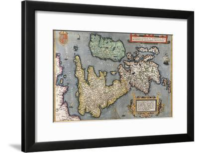 A Map of Great Britain, 1587-Abraham Ortelius-Framed Giclee Print