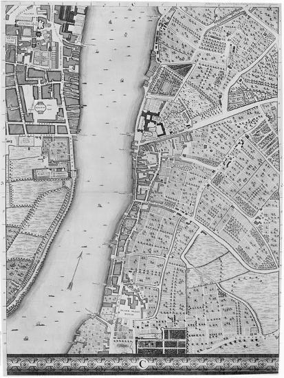 A Map Of Lambeth And Vauxhall London 1746 Giclee Print By John Rocque Art Com