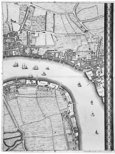 A Map of Limehouse and Rotherhithe, London, 1746-John Rocque-Giclee Print