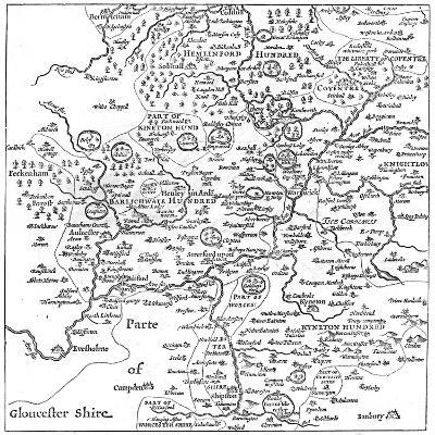 A Map of Stratford-Upon-Avon and its Surrounding Areas, 1610-Edward Hull-Giclee Print