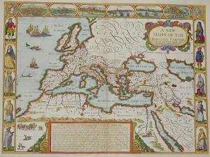 A Map of the New Roman Empire, circa 1610 by John Speed (1552-1629)