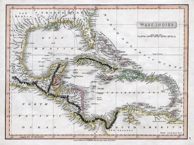 A Map of the West Indies, 1808-C Smith-Giclee Print