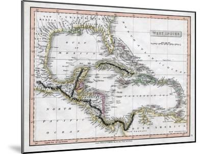 A Map of the West Indies, 1808-C Smith-Mounted Giclee Print