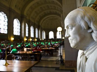 A Marble Bust Of Benjamin Franklin At The Boston Public Library  Photographic Print By Richard Nowitz | Art.com