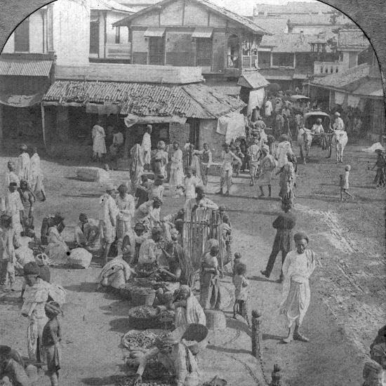 A Market in Ahmedabad, India, 1902-BL Singley-Photographic Print