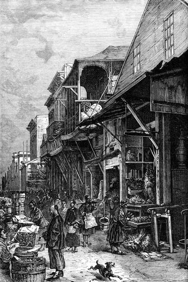 A Market Place in San Francisco, California, USA, Mid 19th Century--Giclee Print