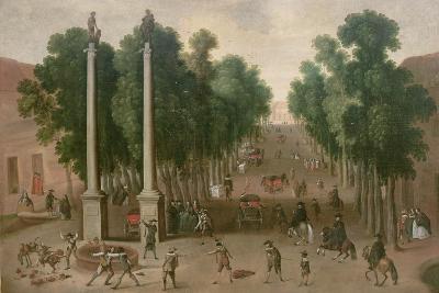 A Market Square in Seville, C.1650-Juan Bautista Martinez del mazo-Giclee Print