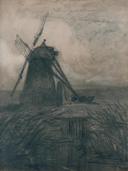 'A Marsh Mill', c1840-Thomas Lound-Giclee Print