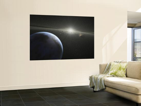 A Massive Asteroid Belt in Orbit Around a Star the Same Age and Size as Our Sun--Wall Mural