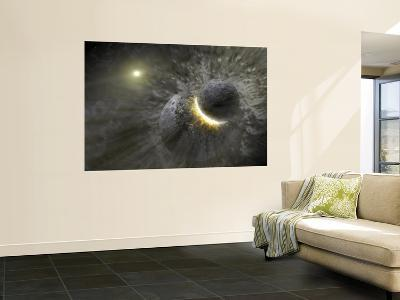 A Massive Collision of Objects Smashed Together to Create the Dust Ring Around the Nearby Star Vega--Wall Mural